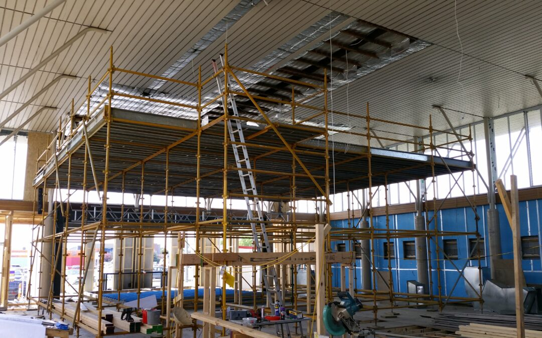 birdcage scaffold for ceiling maintenance