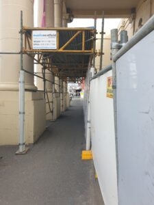 gantry scaffold for public protection from construction site
