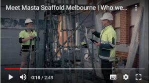 Masta Scaffold Melbourne on site displaying communication between the team